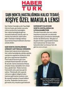 Habertürk – Op. Dr. Özer Kavalcıoğlu – Kişiye Özel Makula Lensi