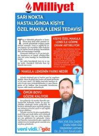 Milliyet – Op. Dr. Özer Kavalcıoğlu – Sarı Nokta Hastalığında Kişiye Özel Makula Lensi Tedavisi