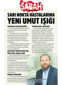 Sabah – Op. Dr. Özer Kavalcıoğlu – Sarı Nokta Hastalarına Yeni Umut Işığı