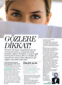 Elele Dergisi – Dr. Özer Kavalcıoğlu – Göz Sağlığı