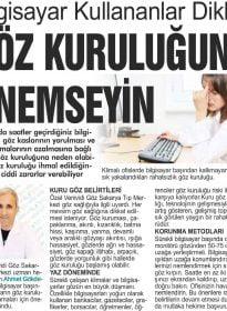 Sakarya Adapostası – Op. Dr. Ahmet Gökdere – Göz Kuruluğu
