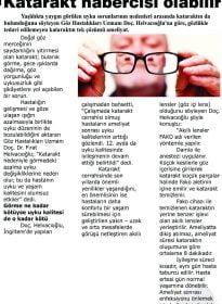 Ahval Gazetesi – Doc.Dr. Fırat Helvacıoğlu – Uyku Bozukluğu Katarakt Habercisi Olabilir