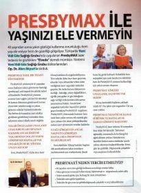 Şamdan Dergisi – Op. Dr. Akın Akyurt – PresbyMax