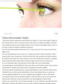 sozcu.com.tr – Op. Dr. Ertan Sunay – No Touch Laser
