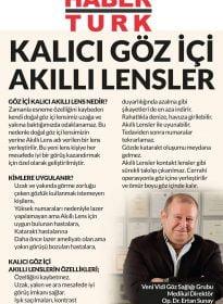 Habertürk Gazetesi – Op. Dr. Ertan Sunay – Akıllı Lens Tedavisi
