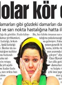 Güneş Gazetesi – Op. Dr. Özer Kavalcıoğlu – Sarı Nokta Hastalığı