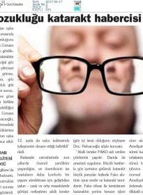 Haber 12 – Doc.Dr. Fırat Helvacıoğlu – Uyku Bozukluğu Katarakt Habercisi Olabilir