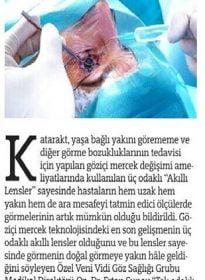 Türkiye Gazetesi – Op. Dr. Ertan Sunay – Akıllı Lensler Tedavisi