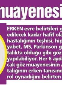 Güneş Gazetesi – Op. Dr. İsmail Hakkı Özeren – Göz Sağlığı