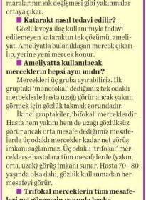 Milliyet Cadde – Op. Dr. Özer Kavalcıoğlu – Katarakt