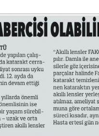 Milli İrade – Doc.Dr. Fırat Helvacıoğlu – Uyku Bozukluğu Katarakt Habercisi Olabilir