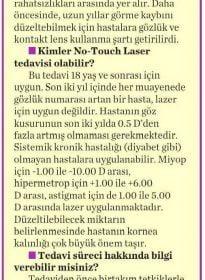 Milliyet Cadde – Op. Dr. Özer Kavalcıoğlu – No Touch Laser
