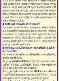 Milliyet – Op. Dr. Özer Kavalcıoğlu – Akıllı Lensler