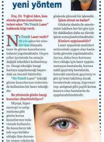 Vatan Gazetesi – Doc. Dr. Tuğrul Akın – No Touch Laser