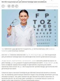 Habertürk Sitesi – Op. Dr. Özer Kavalcıoğlu – Göz Dibi Muayenesi