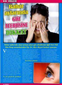 Hürriyet Trendy – Op. Dr. Akın Akyurt – Göz Alerjisi