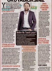 Sözcü Gazetesi – Op. Dr. Özer Kavalcıoğlu – No Touch Laser