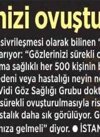Milliyet – Op. Dr. Özer Kavalcıoğlu – Keratokonus