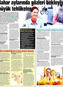 Sabah Gazetesi – Op. Dr. Özer Kavalcıoğlu – Kuru Göz