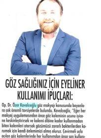 Diva Dergisi – Op. Dr. Özer Kavalcıoğlu – Göz Sağlığı