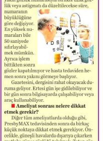 Milliyet Cadde – Op. Dr. Özer Kavalcıoğlu – PresbyMax