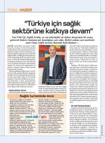 Para Dergisi – Türkiye İçin Sağlık Sektörüne Katkıya Devam – Necdet Özdemir