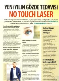 Şamdan Dergisi – Op. Dr. Özer Kavalcıoğlu – No Touch Laser