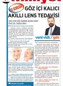 Milliyet Gazetesi – Prof Dr. Tuğrul Akın – Akıllı Lens Tedavisi