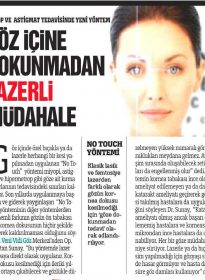Türkiye Gazetesi – Op. Dr. Ertan Sunay – No Touch Laser