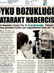 Yenigün İstanbul – Doc.Dr. Fırat Helvacıoğlu – Uyku Bozukluğu Katarakt Habercisi Olabilir