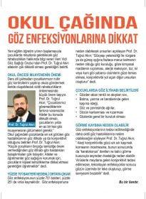 Prof. Dr. Tuğrul Akın – Habertürk Gazetesi – Okul Çağında Göz Enfeksiyonları