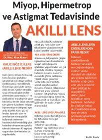 Op. Dr. Med. Akın Akyurt – Posta Gazetesi – Kalıcı Göz İçi Akıllı Lens Tedavisi