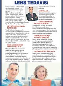 Op. Dr. Serhan Gazyağcı – Haber Türk Gazetesi – Kalıcı Göz İçi Akıllı Lens Tedavisi