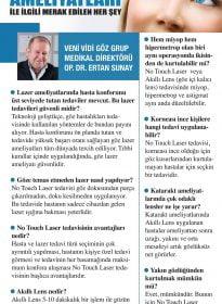 Op. Dr. Ertan Sunay – Sözcü – Göz Ameliyatları