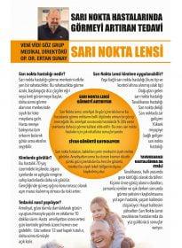 Op. Dr. Ertan Sunay – Sözcü – Sarı Nokta Lensi