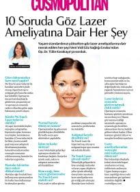 Op. Dr. Tülin Karakaya – Cosmopolitan – 10 Soruda Göz Lazer Ameliyatına Dair Her Şey