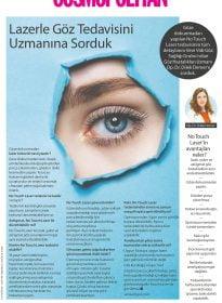 Op. Dr. Dilek Demer – Cosmopolitan Dergisi Şubat Sayısı – Uzak, Yakın ve Astigmat Tedavisinde No Touch Laser