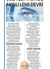 Op. Dr. Nihat Karakaya – Posta Gazetesi Düzce & Sakarya – Göz Tedavisinde Akıllı Lens Devri