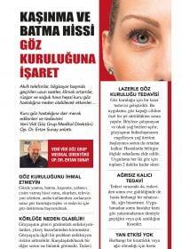 Op. Dr. Ertan Sunay – Gözcü – Kaşınma ve Batma Hissi Göz Kuruluğuna İşaret
