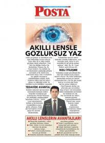 Op. Dr. Vusal Guliyev – Posta Gazetesi – Akıllı Lensle Gözlüksüz Yaz