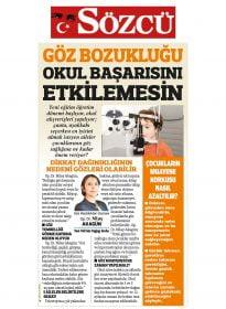 Op. Dr. Nilay Akagün – Sözcü – Göz Bozukluğu Okul Başarısını Etkilemesin