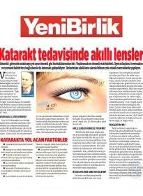 Doç. Dr. Fırat Helvacıoğlu – Yeni Birlik – Katarakt Tedavisinde Akıllı Lensler