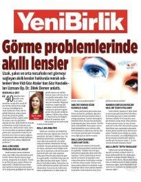 Op. Dr. Dilek Demer – YeniBirlik – Görme Problemlerinde Akıllı Lensler